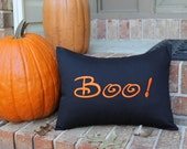 PEOPLE.COM Halloween Pillow Cover. BOO! 12 x 16 Holiday Decoration Autumn Fall Decorative Pillow. Inside Outside Porch Decor. Trick or Treat