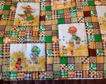 Holly Hobbie linen quilt