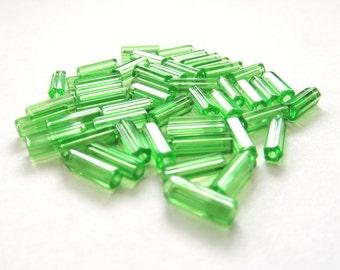 Apple Green Atlas Beads, 10mm x 4mm - 50 pieces