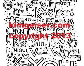 ABC YOU! Digital download illustration