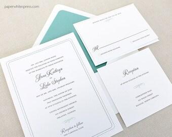 "Classic Wedding Invitation, ""Bristol"" - Sample Set"