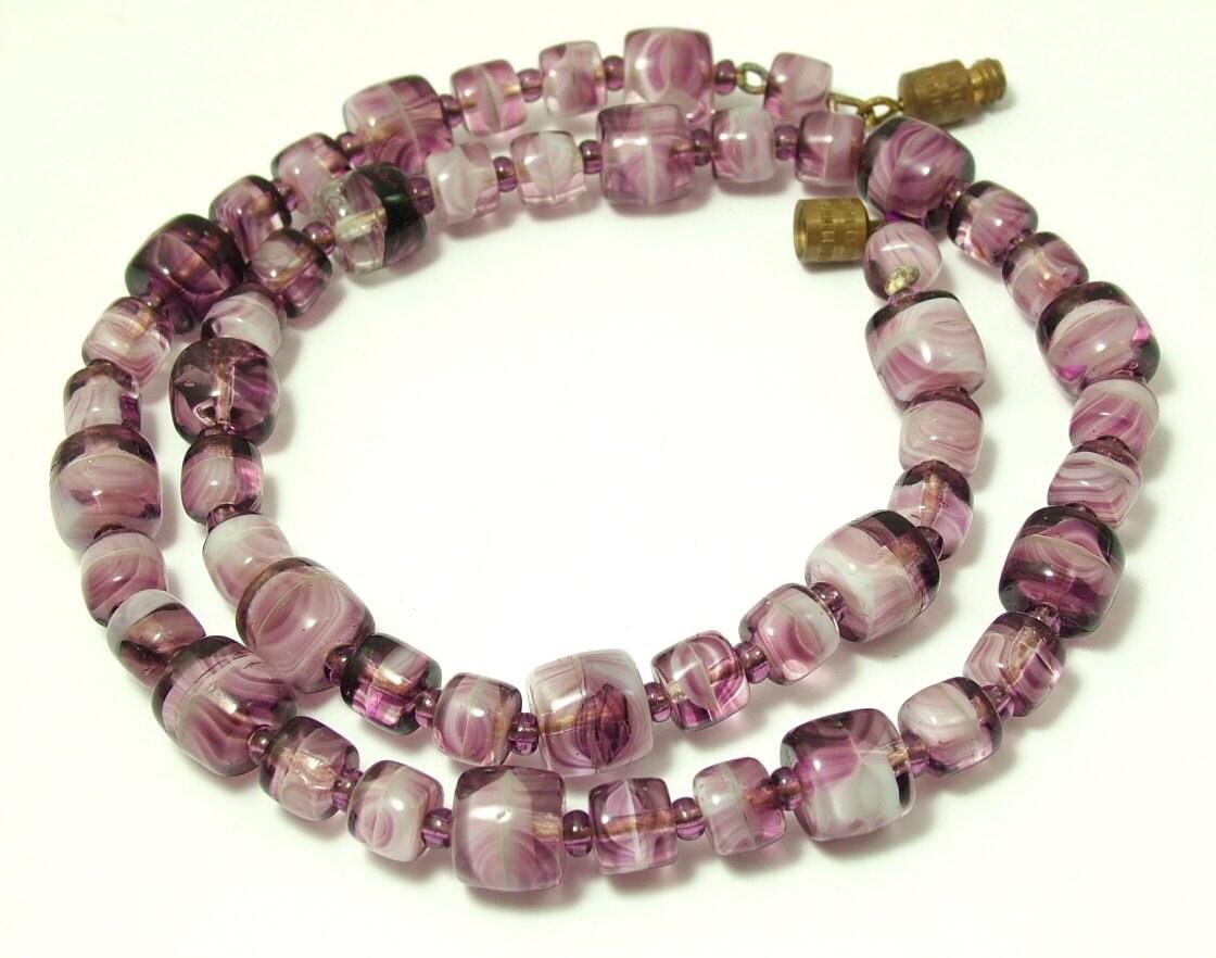 vintage estate jewelry 1940s kitsch retro purple by rebstuff1