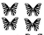 Butterflies to print on fabric paper Iron tote bags t-shirt pillow-scrapbooking-Download and print-diy-8 black butterflies