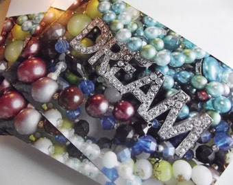 Dream Bling Vintage Jewelry Photo Greeting Card Blank Inside -  To Benefit Heart Strings