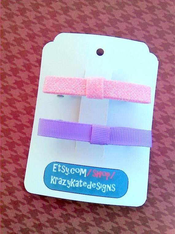 30 Personalized Hair Clip Cards, Barrette cards, Clippie Card, bobby pin card  Product Tag