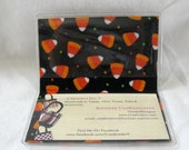 HALF OFF Business Card Holder Candy Corn Halloween Mini Wallet