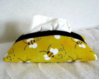 Bee Pocket Tissue Holder Bumblebee Tissue Cozy