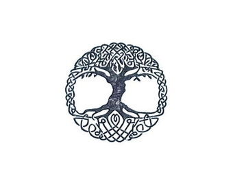 Celtic Tree of Life Rubber Stamp small