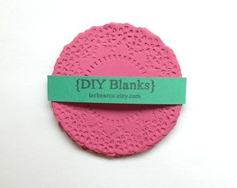 """4.5"""" Paper Doilies Doily Bright pink fancy Lace Qty 25 great for stamping"""