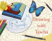 DRAWING Workshop Art Class - Cute Characters figures in motion sketching online art class draw sketch create magic