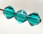 Czech 6mm Bicone Pressed Glass Beads Emerald Green (25pk) SI-6BC-EG