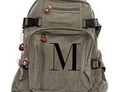 Personalized Backpack, Monogram Canvas Backpack, Personalized Bridesmaid Gift, Gift Under 50, Personalized Gift for Women, Gift for Coworker