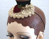 Pecan Caramel Chocolate Cupcake Headpiece Fascinator On Sale
