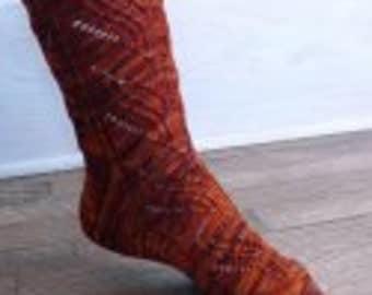 Knitspot Flaming Desire Sock Pattern