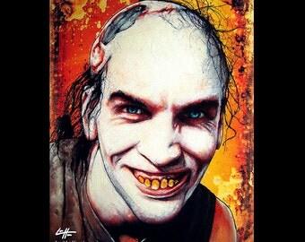 "Print 8x10"" - Chop Top Sawyer - Texas Chainsaw Massacre 2 Leatherface Horror Dark Art Serial Killer Bill Moseley Gothic Halloween"