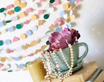 Sweet Cup of Tea 15' Wedding Paper Garland Wedding, Photography, Nursery, Bridal Shower