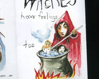 Witches - mini zine / book - Super Fancy.