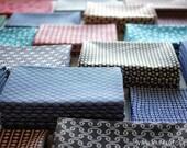 8 pcs - Tenugui - Japanese cotton fabric.