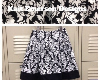 Toddler Girl Skirt - baby outfit- Girl Clothes- Kids Clothes- Girl Toddler Clothes- girl spring outfit- black -white - boho kids clothes