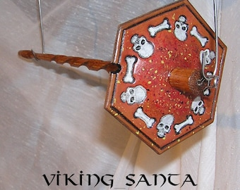 Viking Santa Drop Spindle ( EDS 0557 ) Leather whorle