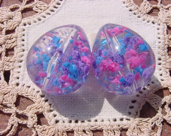 Party Time Confetti DROPS Vintage Lucite Beads