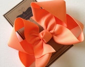 Big Girl Hairbows - Large Boutique Bow - Apricot Bow