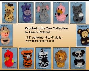 Crochet Little Zoo Collection, crochet zoo, crochet animals, crochet tiger, crochet set