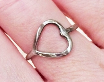 Sterling silver antiqued sideways open heart ring Perfect for Valentine's Day! Great gift for her