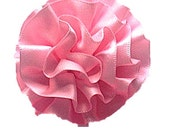 FLOWER ONLY: Pink Satin Flower Removable Dog Collar Add-on