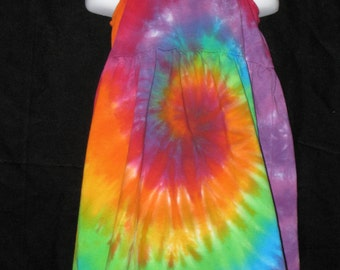 Girls Rainbow Tye Dye Fun in the Sundress Size 2T