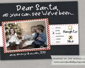 Fun Kids Christmas Photo Card -- Naughty or Nice