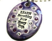 Learn Something New Everyday Sparkle Surly Necklace with Swarovski Crystals in Purple