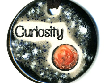 Curiosity Ceramic Necklace in Black and Gray