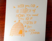 Search of Honey - Limited Edition Letterpress Print
