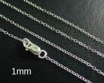 New ANY LENGTH, Sterling SIlver Finished Cable Chain - Custom Lengths Available