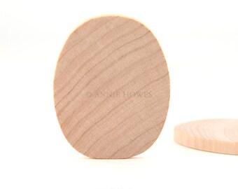 Egg Shaped Natural Wood for Crafts