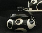 Solid Open Circle Sugar Dish. Sugar. Dish. Circle. Bowl. Handmade by Sara Hunter Designs
