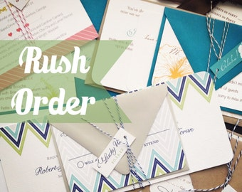 Rush Order Fee for Wedding Invitations