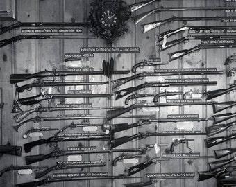 vintage  photo Las Vegas Nevada Historic Firearms Rifles Guns Collection 1950s