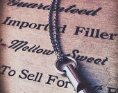 long whistle necklace - silver round