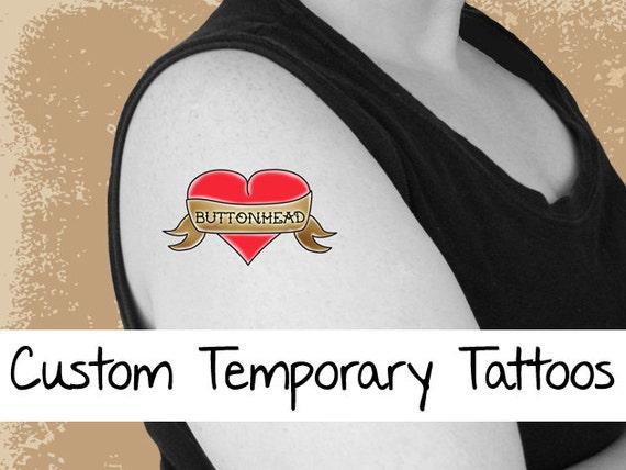 50 custom temporary tattoos 2 5 inch chicago peoria for Custom temporary tattoo