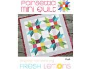Modern Quilt Pattern - Poinsettia Mini Quilt - PDF