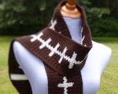 Football Scarf - Crochet PATTERN - INSTANT DOWNLOAD