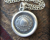 Ivy Leaf Wax Seal Necklace  - Strong and Lasting Friendship - Leaf Necklace - bff necklace