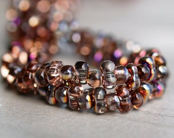 Czech Farfalle Glass Bead 4x2mm Crystal Sliperit : 3 Full Strands