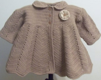 Toddler size 2 - Victorian Coat - Cocoa Brown - Ready to Ship