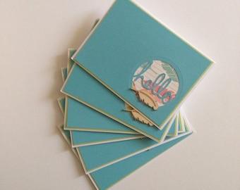 6 Hello Feather theme Studio Calico Cards Box Set