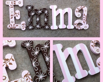 Custom hand painted wooden wall letters - cocalo Daniella theme