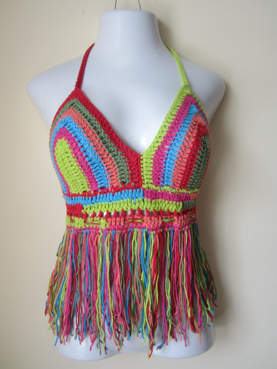 CROCHET HALTER TOP Burning man festival halter by Elegantcrochets