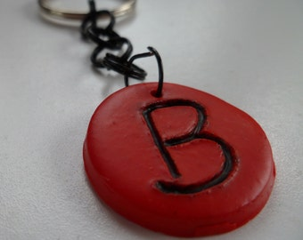 Red Intial B Keychain